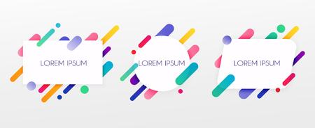 Carte de papier et formes colorées abstraites. Lignes et cercles au néon. Concept de bannières Web, sites Web, infographies.