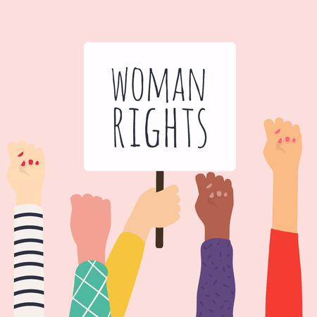 Woman right. Women resist symbol. Vector illustration. Vector Illustration