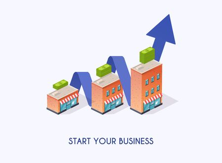 Starts your business. Infographic business concept.