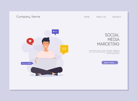 Social media marketing. Digital marketing, online advertising, SMM.