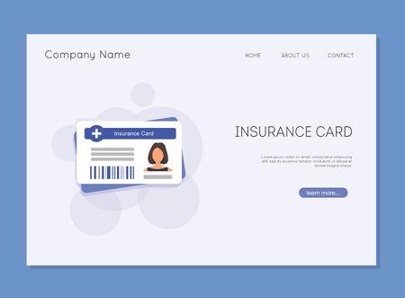 Medical insurance card. Medical sInsurance medical card.