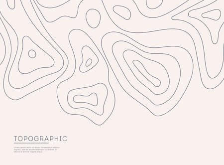 Topographic map background concept with space for your text. Topographic map contour background. Map mockup infographics. Stockfoto - 154932381