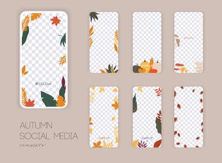 Autumn themes template design Stock Illustratie