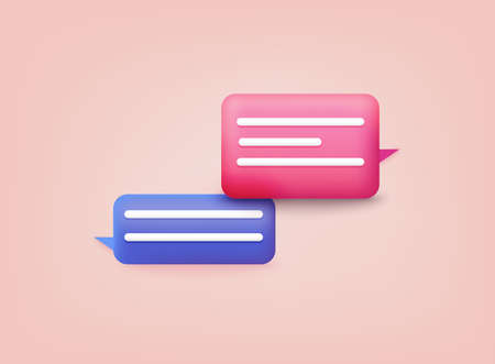 3d Chat bubble. Talk, dialogue, messenger or online support concept. Stockfoto - 157443348