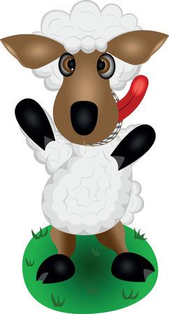 one of a kind: gray sheep, dark sheep, big ears, cute sheep, showing tongue, therapeutic wool, warm coat, kind eyes, bushy tail, illustration sheep, vector animals, vector sheep,one lamb, one sheep, cartoon animal, domestic animal, dish of sheep, furry body, beautiful n