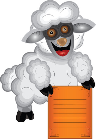 vector illustration of gray sheep Vector