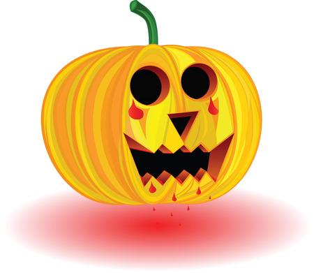 vector illustration of scary pumpkin Vector