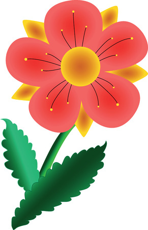 sniff: vector illustration of a flower