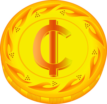 scrip: cedi, Ghana, coin, finances, gold, vector, business, symbol, shiny, currency, inflation, european, painting, trading, illustration, white, paying, objects, banking, buying, wealth, art, metal, relief, charity, icons, circle, money, investment, award, savi
