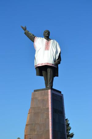 dictator: statue of Lenin, Lenin in Kiev, Lenin embroidery, high Lenin postument Lenin, the great dictator, Red October, the great revolution, the Soviet Union, Vladimir Ilyich, Vladimir Lenin, the time of communism, the Communist Party, Lenin statue, funny Lenin