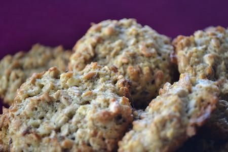 satisfying: Oatmeal cookies Stock Photo