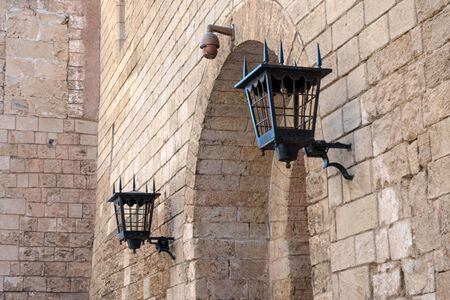Palma de Mallorca, Spain, Cathedral of Santa Maria, also La Ceu. Palm Cathedral is one of the main attractions of the Balearic Islands. Beautiful building of the Gothic culture. Details