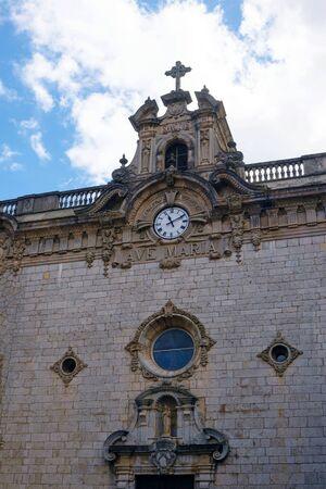The amazing monastery of Santuari de Lluc (Santuario de Santa Maria de Lluch) is a Catholic monastery on the island of Mallorca. Holy place, the spiritual center of Mallorca, Balearic Islands, Spain.