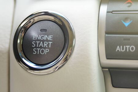 Car engine start and stop button luxury class
