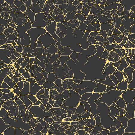 Golden neural seamless pattern. Vector illustration. Eps 10