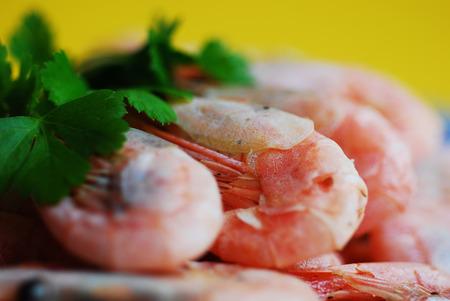 prepared shrimp: Prepared shrimp on a plate