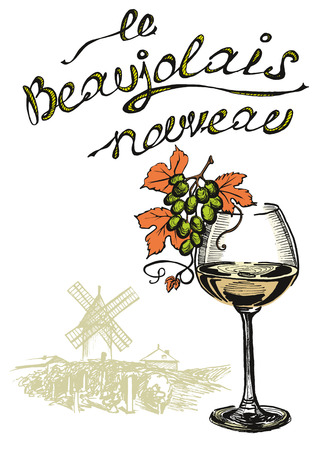 Beaujolais nouveau with french text
