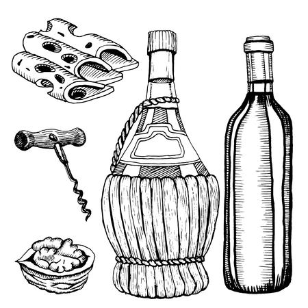New wine Beaujolais nouveau. bottle Stock fotó