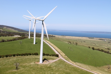 aerial wind farm australia photo