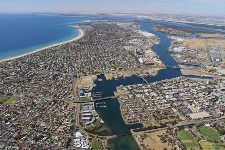 adelaide: aerial south australia port adelaide