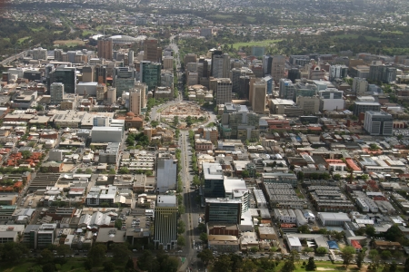 adelaide: aerial adelaide city Editorial