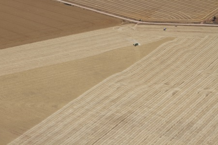 farm land: aerial view of farm land in south australia, north of adelaide Stock Photo