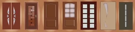 colección de diferentes puertas, imagen vectorial