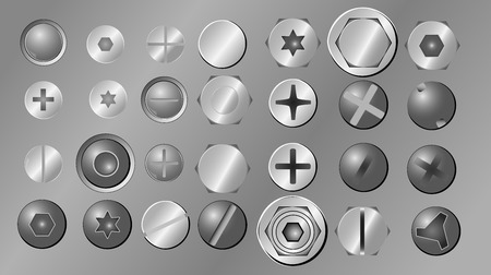 Bolts And Screws Vector Illustration