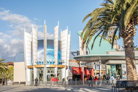 LOS ANGELES, USA - March, 2018: Universal Studios Hollywood Park, the first film studio and theme park of Universal Studios Theme Parks across the world.