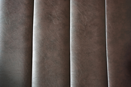 Brown leather texture of modern sofa Reklamní fotografie