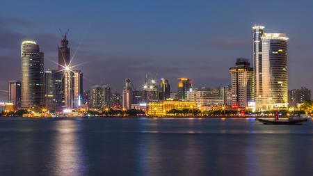 nightview: XiaMen LunDu Night View Editorial