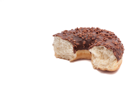 Delicious Donut with Sprinkles Isolated on White Background.
