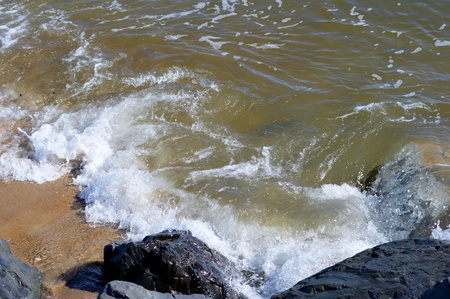 shore: Waves Crashing on Shore