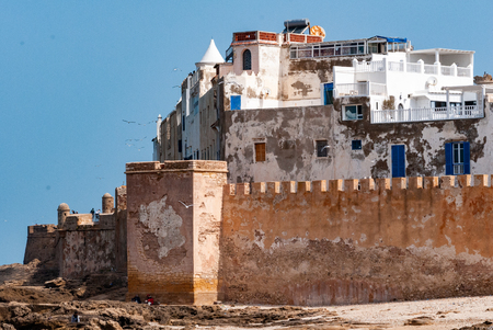 View from the fortress of the ramparts and the medina of the old city of Essaouira in Morocco, known also under the name of Mogador