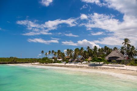 Beautiful blue sea in the island of Zanzibar in Tanzania, Africa