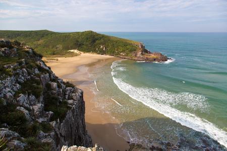 Beautiful beach in Torres, Rio Grande do Sul, Brazil - South America Stock Photo