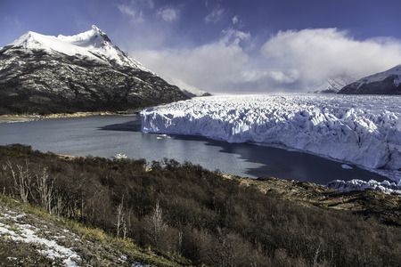 Beautiful scene in the lakes of Ushuaia, Argentina, Patagonia