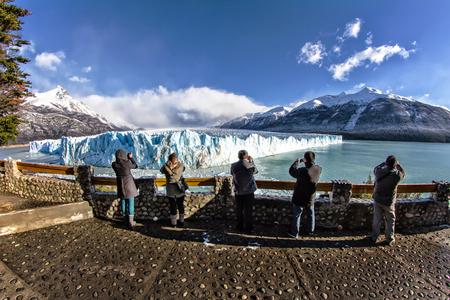 Blue ice in Perito Moreno Glacier, Argentino Lake, Patagonia, Argentina