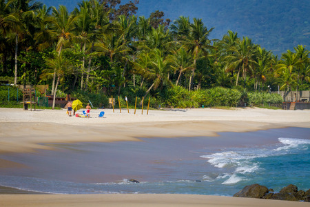 Maresias Beach in north shore of Sao Paulo, Brazil
