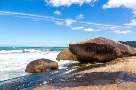 Beautiful beach around Paraty, Rio de Janeiro, Brazil.