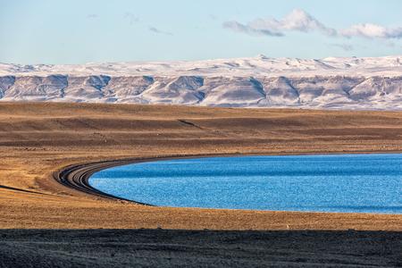 Beautiful scene in the lakes of El Calafate, Argentina, Patagonia Stock Photo
