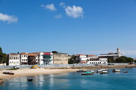 Beautiful blue sea in Stone town in the island of Zanzibar in Tanzania, Africa