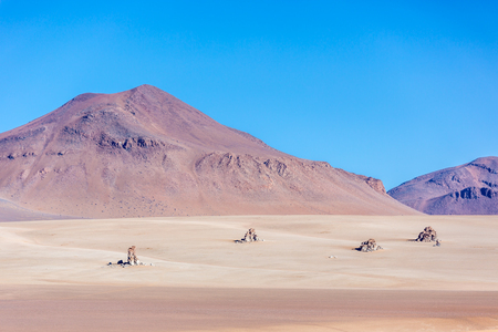 The Salvador Dali desert in the Andes in Bolivia