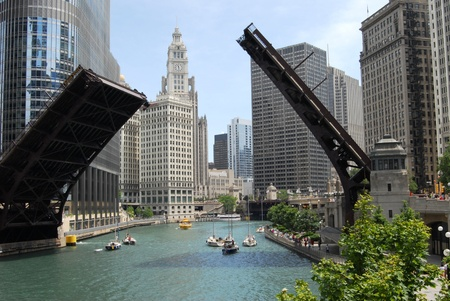 Chicago:  Downtown Chicago, Illinois USA Editorial