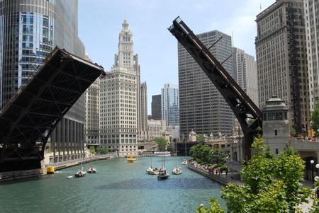 windy city: El centro de Chicago, Illinois, EE.UU.