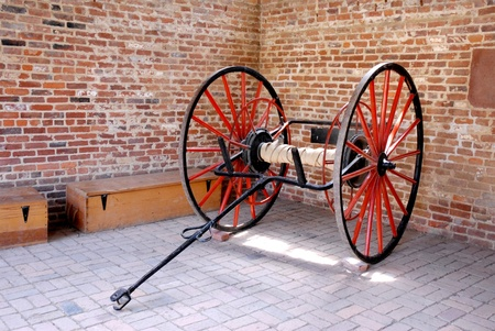 18th: Horse Carriage Wheels in the Garage