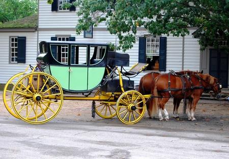 Paard en wagen in Virginia, USA