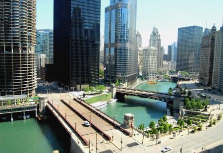 lake district: Downtown Chicago, Illinois USA
