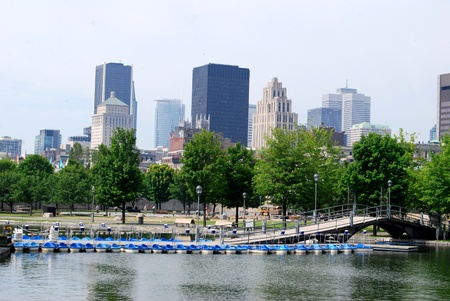 industrial park: Downtown Montreal in Quebec, Canada