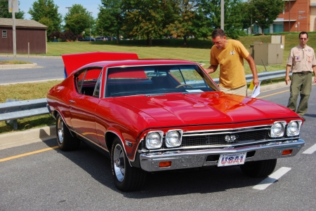ss: 1969 Red Chevy SS 396 Car